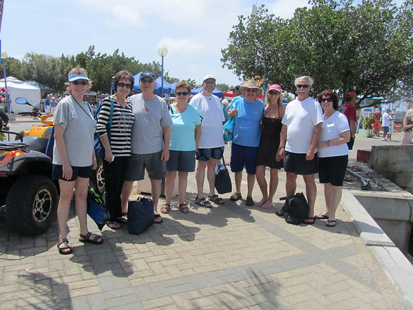 Meeting on the dock and ready to go on the Woodinds snorkeling excursion in Bonaire  Photo by Bill & Marilyn V